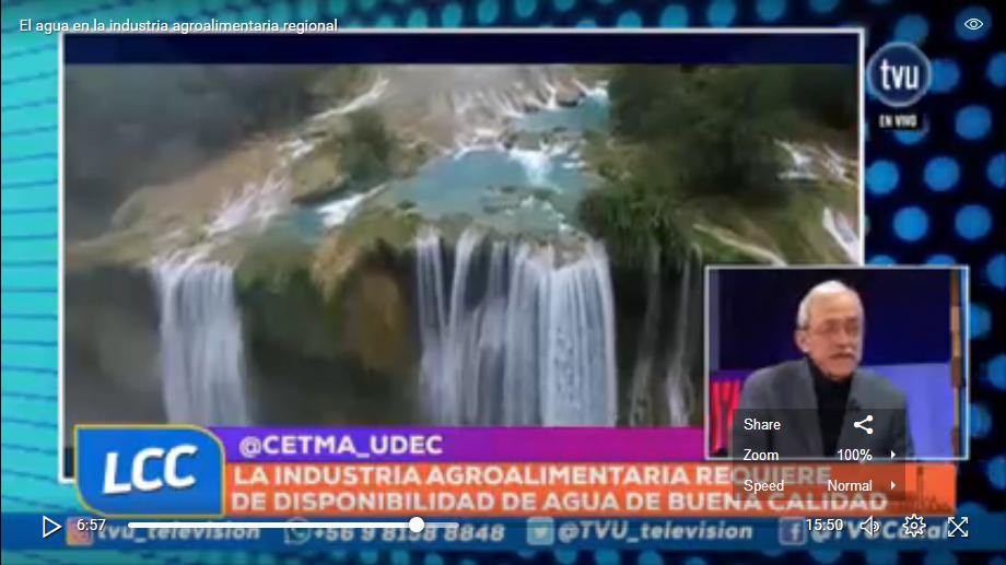 Screenshot El agua en la industria agroalimentaria regional